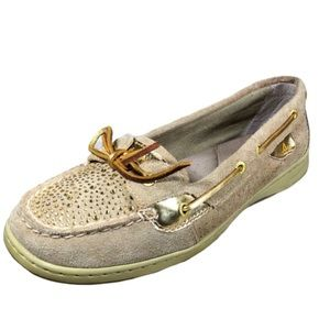 Sperry topsider angelfish boat shoe gold size 6.5